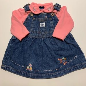 Girl's OshKosh B'gosh Cupcake Overall Jean Dress
